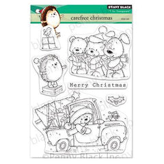 Penny Black Clear Stamps - Carefree Christmas 5 inchX6.5 inch