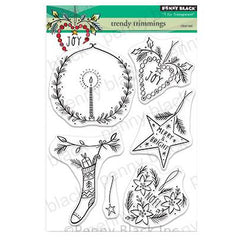 Penny Black Clear Stamps - Trendy Trimmings 5 inchX6.5 inch