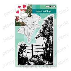 New Penny Black BANNER OF LOVE Wood Rubber Stamp Love Hearts Valentines Friend