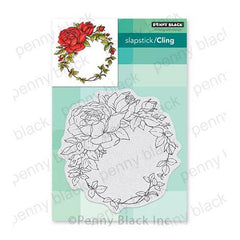Penny Black Cling Stamps - Windsome Wreath 4.6in x 4.72in
