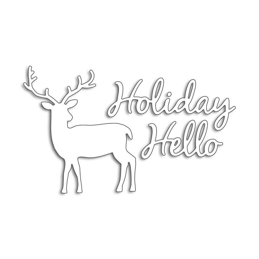 Penny Black Creative Dies - Holiday Hello 4.12inch X2.4inch
