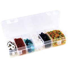 Multicraft Imports - Organiser Box with Lid & 6 Dividers - 6.75 inch X2.25 inch X1.1875 inch