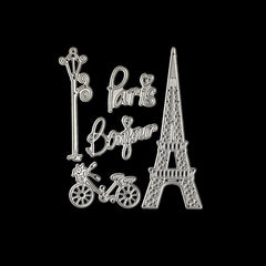 Poppy Crafts Dies - Bonjour Paris with Eiffel Tower Die Design