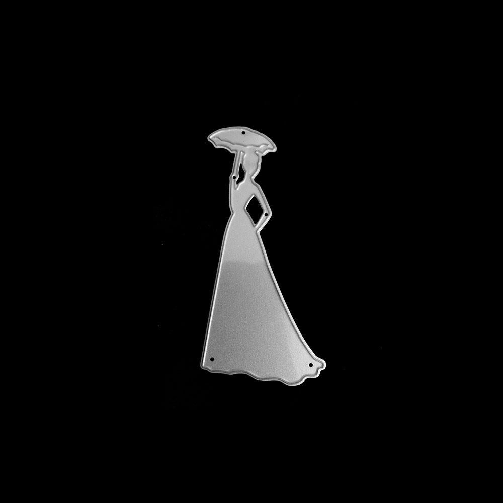 Poppy Crafts Dies - Lady with Parasol Die Design