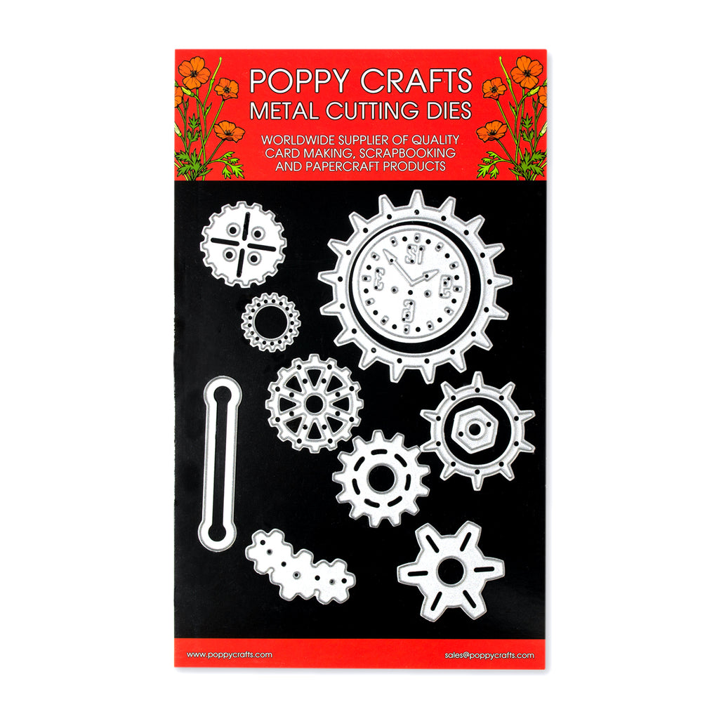 Poppy Crafts Metal Cutting Dies - Gearing Up