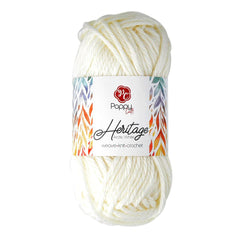 Poppy Crafts Heartfelt Heritage Yarn 142g - Arctic White - 100% Acrylic