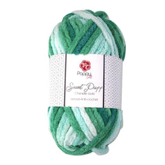 Poppy Crafts Sweet Puff Super Chunky Chenille Yarn - 16 Ply 100g - Jade