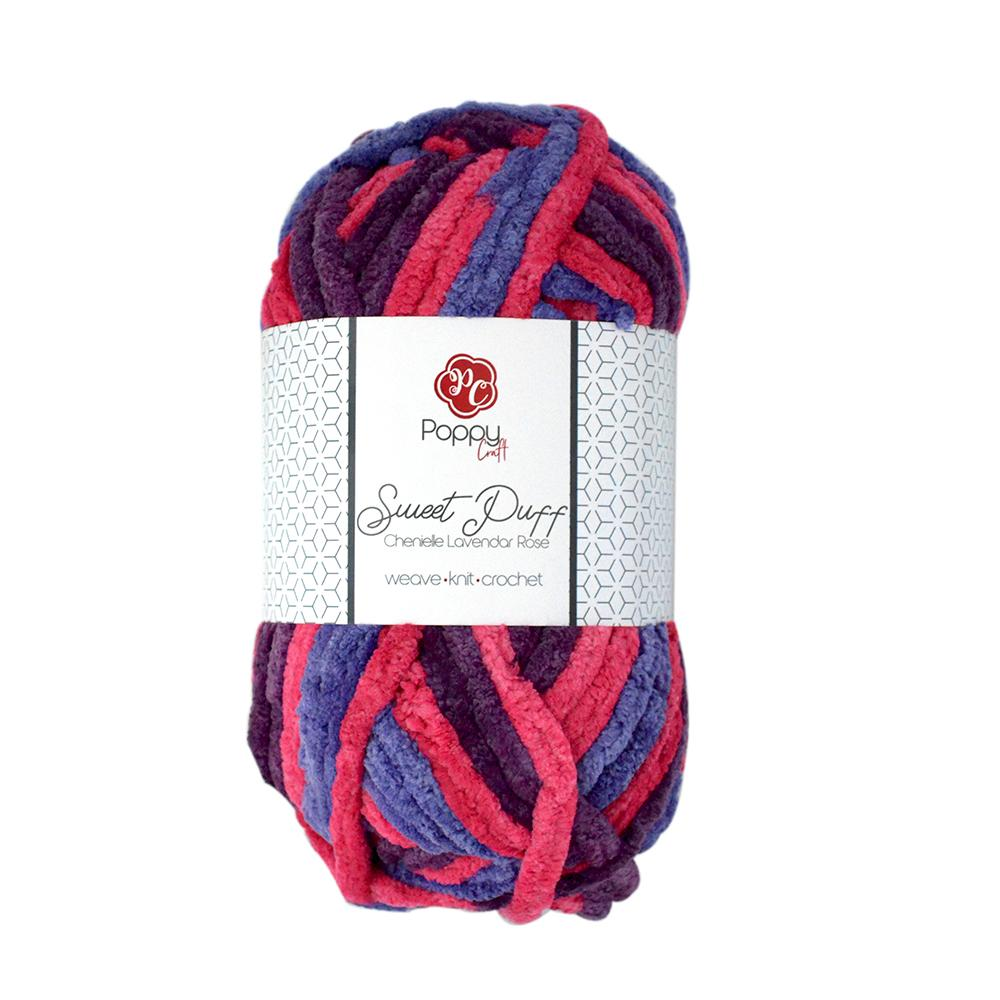 Poppy Crafts Sweet Puff Super Chunky Chenille Yarn 100g - Lavender Rose -  100% Polyester