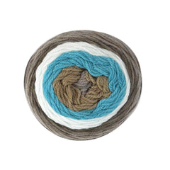 Poppy Crafts Cake Ball Yarn 200g - Toffee Pop Mix - 100% Acrylic