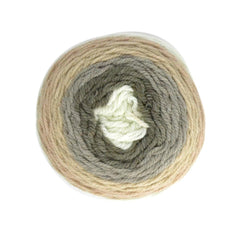 Poppy Crafts Cake Ball Yarn 200g - Fudge Truffle Mix - 100% Acrylic