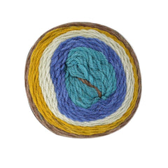 Poppy Crafts Cake Ball Yarn 200g - Aqua Mix - 100% Acrylic