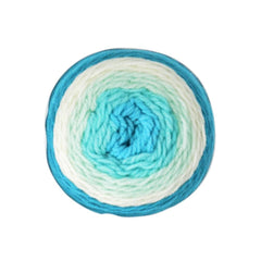 Poppy Crafts Cake Ball Yarn 200g - Aqua Blue Mix - 100% Acrylic