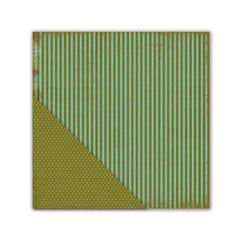 Little Yellow Bicycle - Paradise Collection - 12 x 12 Double Sided Textured Paper - Splendid Stripe