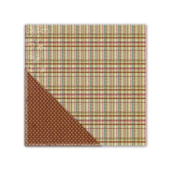 Little Yellow Bicycle - Paradise Collection - 12 x 12 Double Sided Textured Paper - Pleasant Plaid