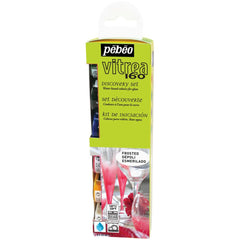 Pebeo - Vitrea 160 Glass Paint Set 20ml 6 pack - Discovery - Frosted