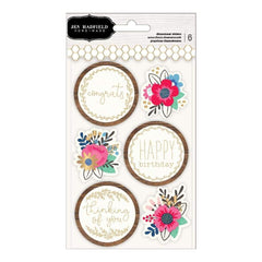 Pebbles Jen Hadfield The Bright Life Dimensional Stickers with Gold Foil Accents