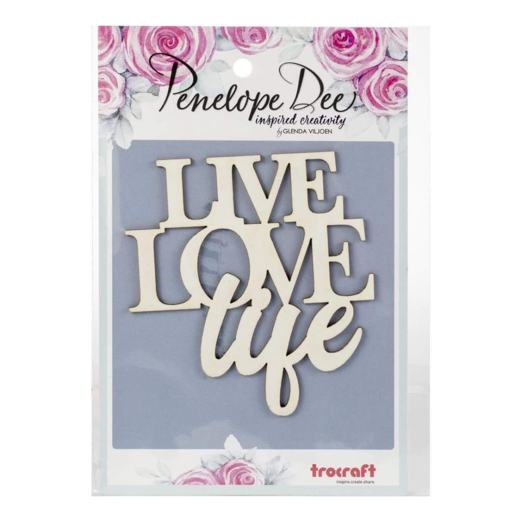 Penelope Dee - Photogenic Paperboard Title Live Love Life