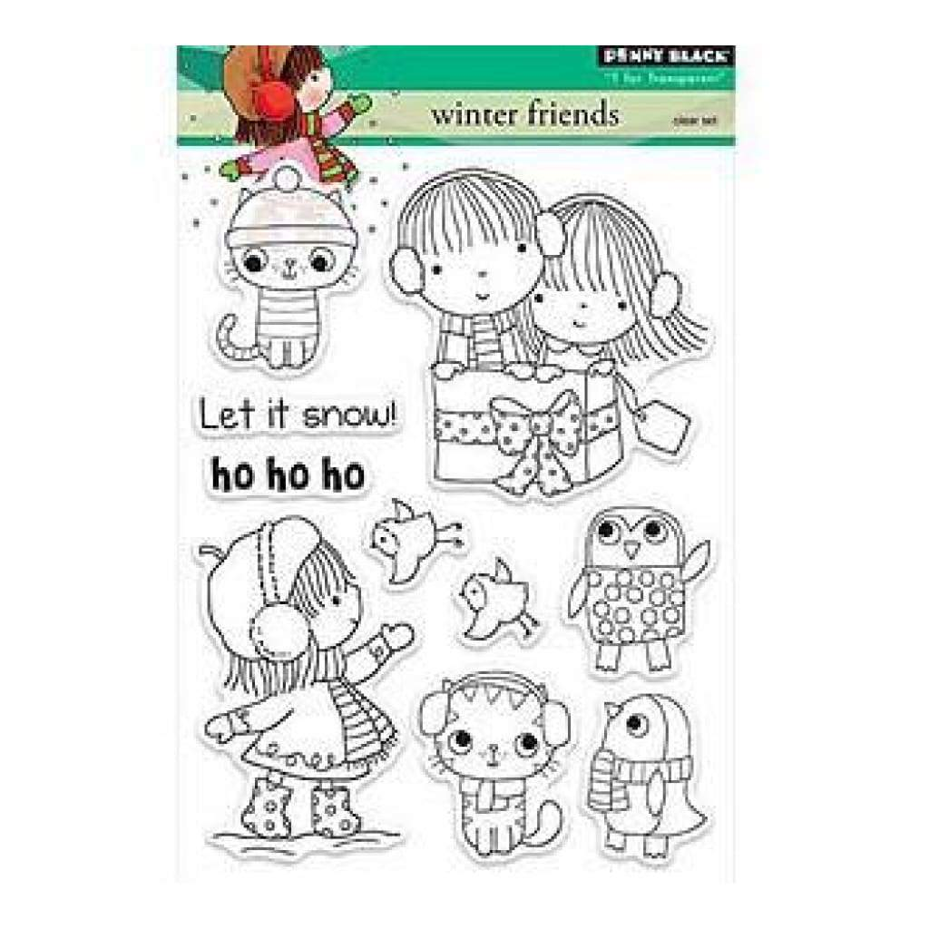 Penny Black Clear Stamp - Winter Friends