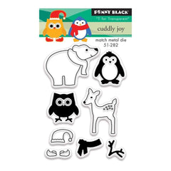 Penny Black Clear Stamps 3 inch X4 inch Cuddly Joy