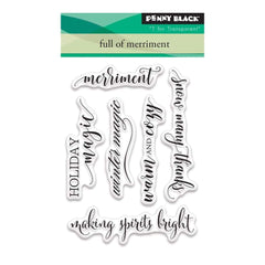 Penny Black Clear Stamps 3 inch X4 inch Full Of Merriment