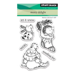 Penny Black Clear Stamps 3 inch X4 inch Merry Delight