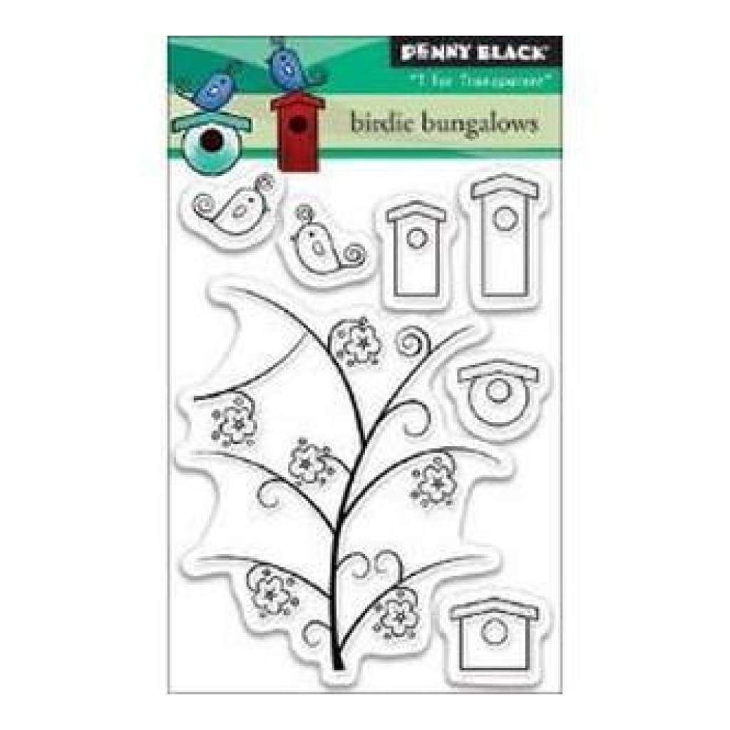 Penny Black Clear Stamps 3In.X4in. Sheet Birdie Bungalows