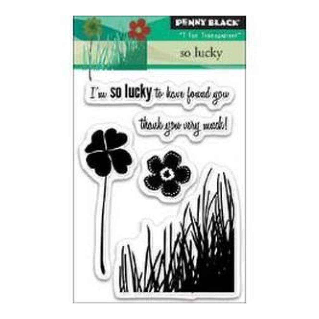 Penny Black Clear Stamps 3In.X4in. Sheet So Lucky