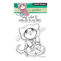 Penny Black Clear Stamps 3X4  inch -  Purrfect