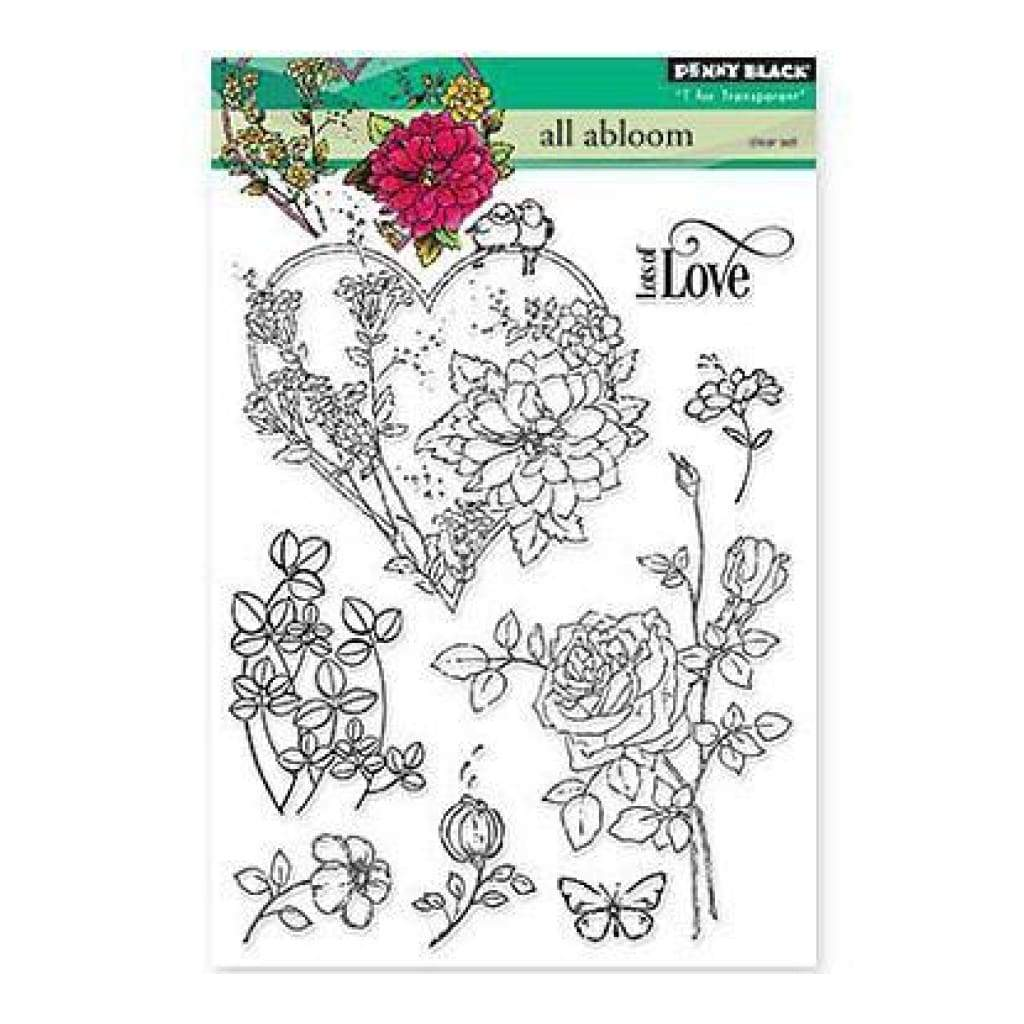 Penny Black Clear Stamps 5 Inch X7 Inch  All Abloom