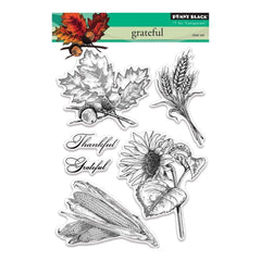 Penny Black Clear Stamps 5 inch X7 inch Grateful