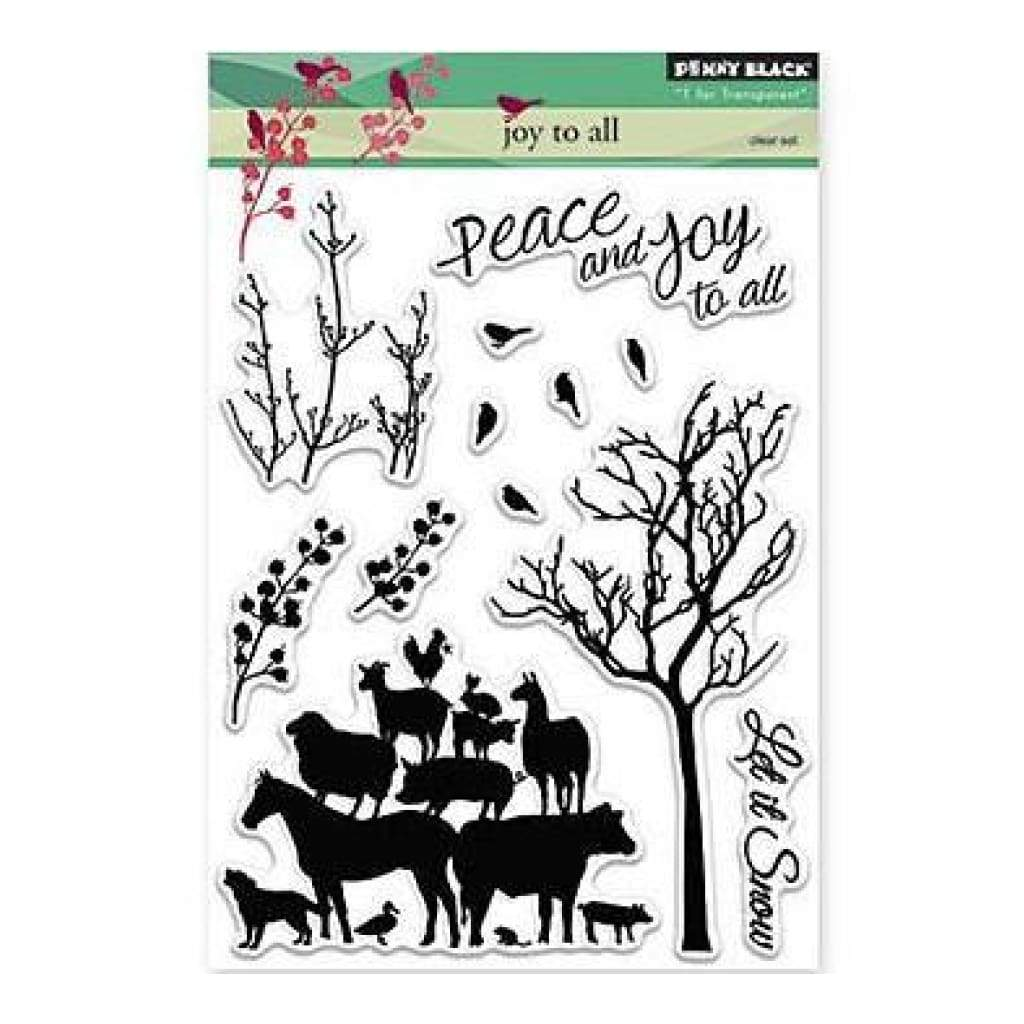 Penny Black Clear Stamps 5 Inch X7 Inch  Joy To All