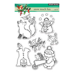 Penny Black Clear Stamps 5 inch X7 inch Snow Much Fun