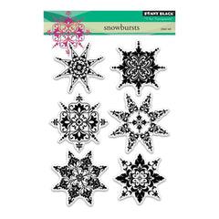 Penny Black Clear Stamps 5 inch X7 inch - Snowbursts
