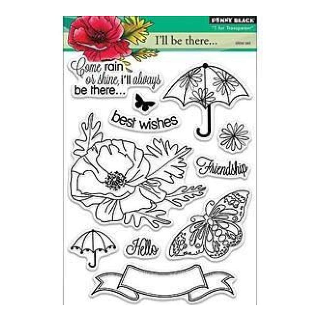 Penny Black Clear Stamps 5In.X6.5In. Sheet Come Rain Or Shine