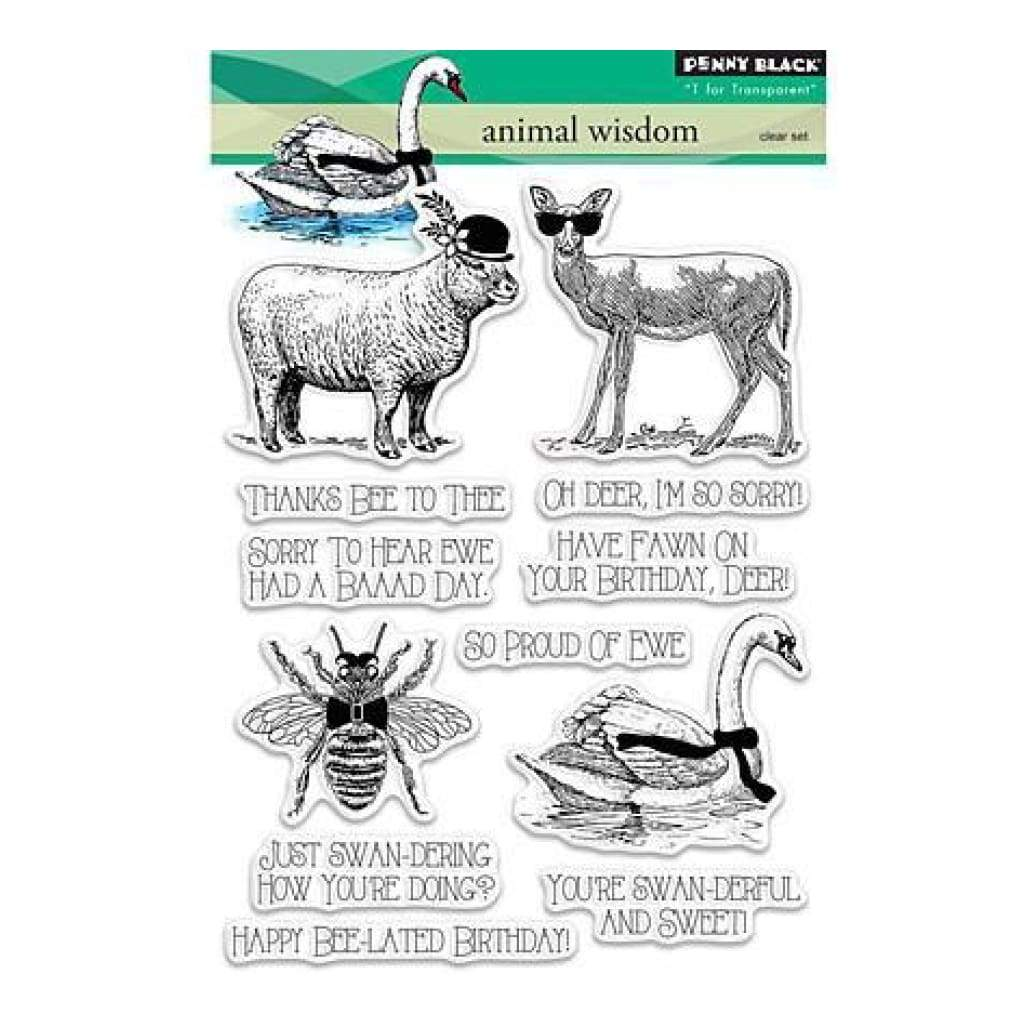 Penny Black Clear Stamps 5In. X7in. Animal Wisdom