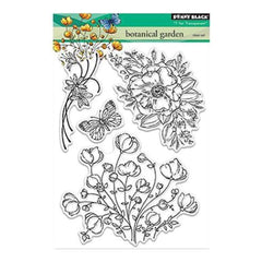 Penny Black Clear Stamps 5In. X7in. Botanical Garden