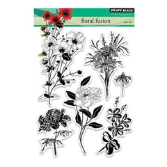 Penny Black Clear Stamps 5In. X7in. Floral Fusion