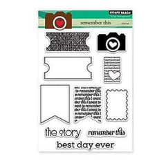 Penny Black Clear Stamps 5X6.5 inch - Sheet Remember This