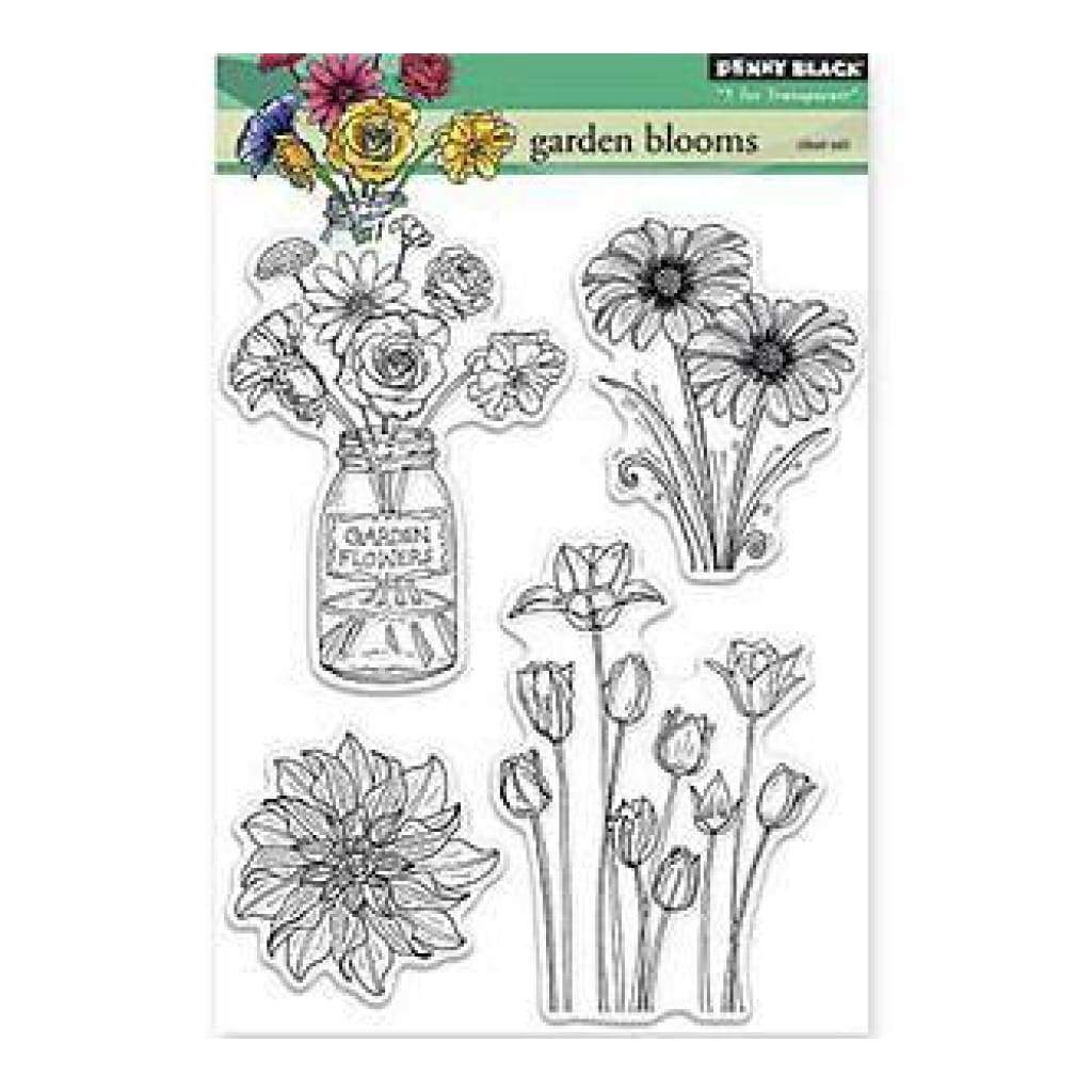 Penny Black Clear Stamps 5X6.5 Sheet Garden Blooms