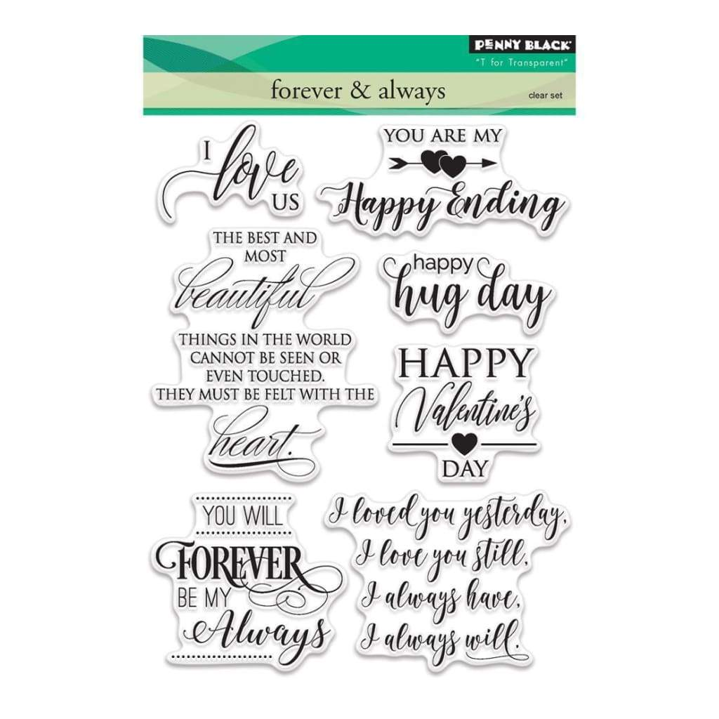 Penny Black Clear Stamps 5X7 Forever & Always