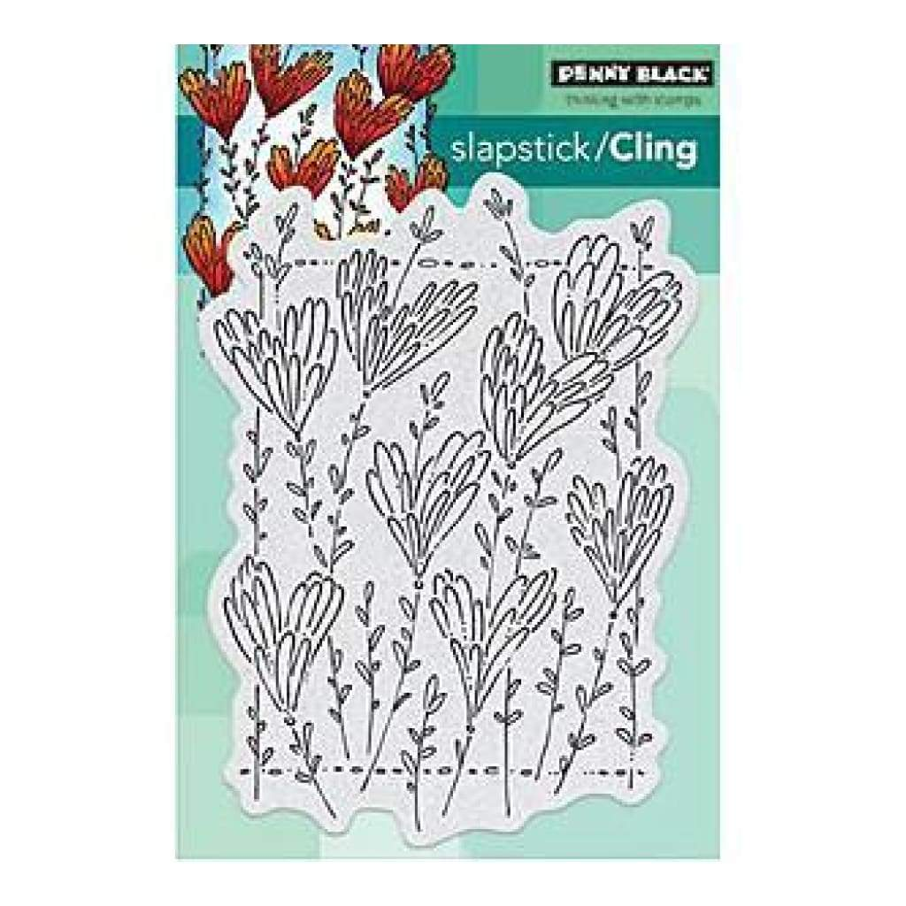 Penny Black Cling Rubber Stamp 4 Inch X5 Inch  Sheet Applause