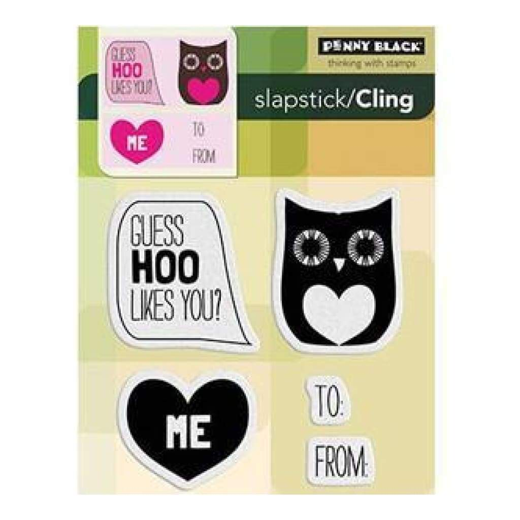 Penny Black Cling Rubber Stamp 4X5.25 Inches - Guess Hoo