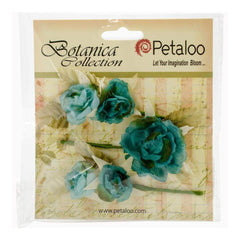 Petaloo Botanica Gypsy Rose Branch 3inch Long 3 pack - Blue
