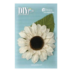 Petaloo - Diy Paintables Giant Burlap Sunflower 5 Ivory