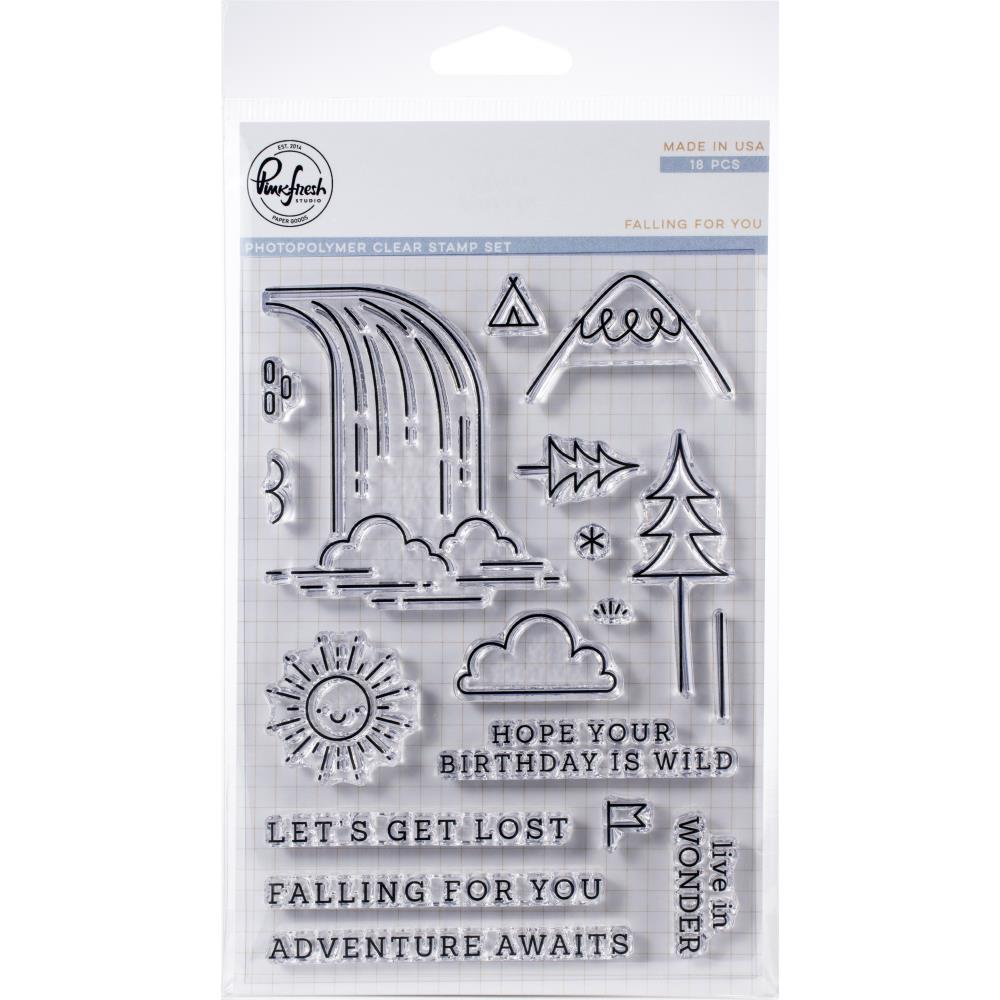 Pinkfresh Studio Clear Stamp Set 4 inchX6 inch - Falling For You