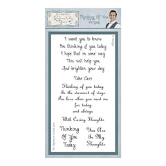 Phill Martin Stamps - Thinking Of You Verses Clear Stamp Set
