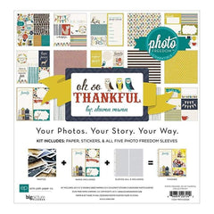 Photo Freedom - Oh So Thankful - 12X12 Collection Kit
