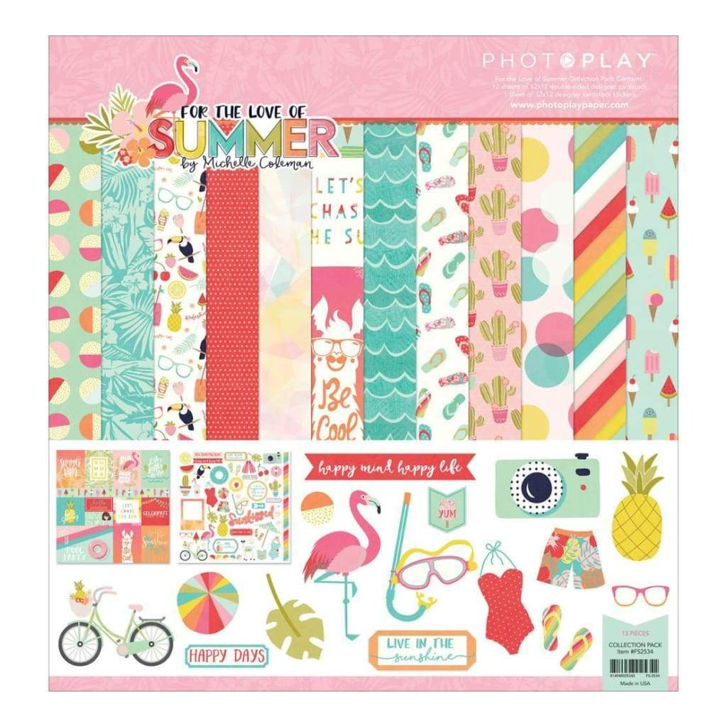 Photo Play Collection Pack 12 inch X12 inch For The Love Of Summer