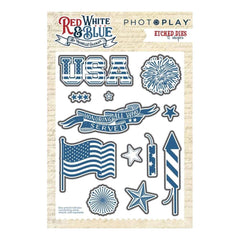 PhotoPlay - Etched Die - Red, White & Blue