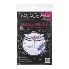 Pink Ink Designs - A5 Clear Stamp Set - Dragonfly